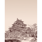 Japanese Castle Sketch