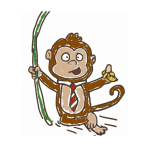 Monkey cartoon childish