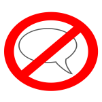 No talking symbol