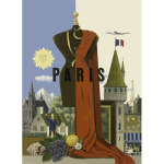 Vintage Travel Paris Poster