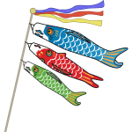 Isolated Carp Streamers