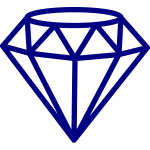 Diamond shape outline