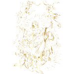 Angels Raising The Virgin Mary To Heaven Gold No BG
