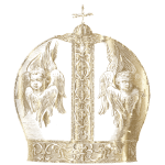 Greek Patriarchal Crown Gold Without Background