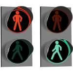 Traffic light for pedestrians (phases)