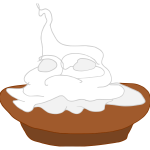 Pie with cream vector image