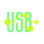 Green & Yellow USB Icon