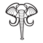 Elephant graphics silhouette