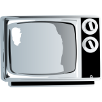 TV set clip art graphics