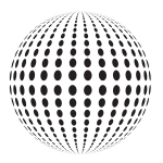 Sphere shape with dots