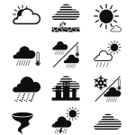 Weather icons and symbols 2