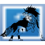 Black and White Tribal Wolf