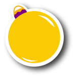 Yellow Christmas Ornament (Round)