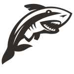 Shark silhouette cut file