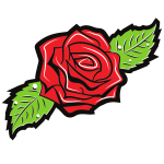Rose flower silhouette-1576504932
