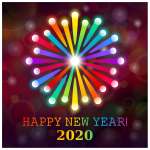 Happy New Year 2020 Rainbow