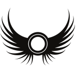 Wings silhouette symbol