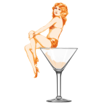Lady on a Martini Glass