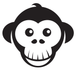 Cute monkey silhouette