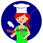 Red head female chef