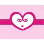 Cute pink heart background