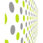Pattern with grey and green dots