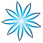 Blue flower logotype concept