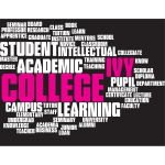 Ivy college word cloud