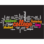 College education word cloud
