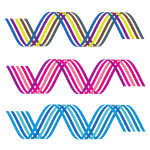 Waving stripes in different colors