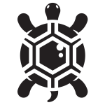 Small turtle silhouette