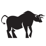 Silhouette of a bull (#2)