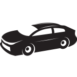 Sports car silhouette stencil art