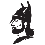 Soldier with helmet silhouette