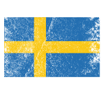 Swedish flag with grainy texture