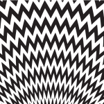 Zigzag pattern black and white
