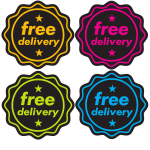 Sticker with text Free delivery