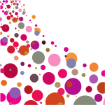 Random dots in various colors