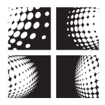 Black and white halftone patterns