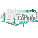 Debt crisis Europe word cloud