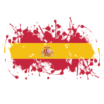 Spanish flag paint splatter