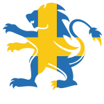 Swedish flag lion silhouette