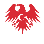 Turkish flag heraldic eagle