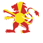 North Macedonia flag heraldic lion