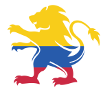 Colombian flag heraldic lion