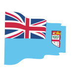 Waving flag of Fiji