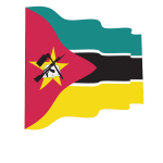 Mozambique flag waving
