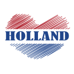 Flag of the Netherlands heart shape