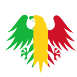 Heraldic symbol with flag of Mali