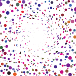 Random colored dots vector background